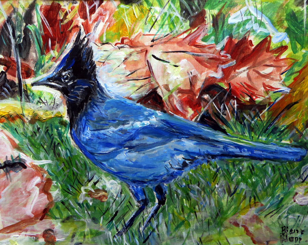 Blue Jay painting post