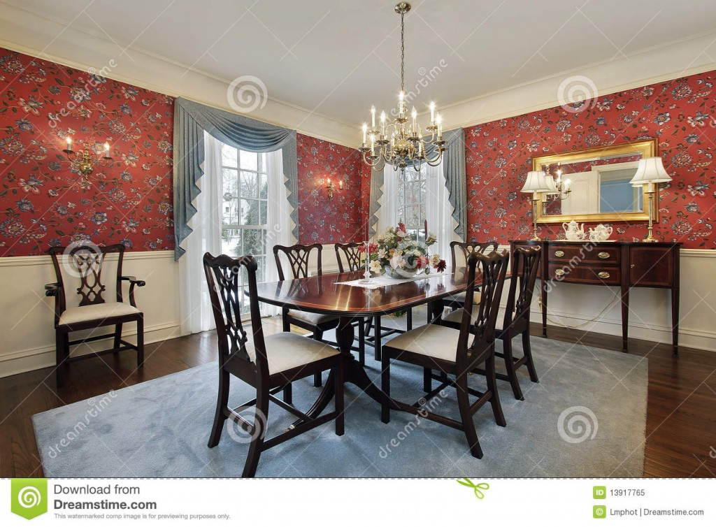 dining-room-red-floral-wallpaper-1391776